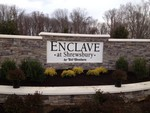 The Enclave at Sherwsbury  Cut Out Aluminum Letters with a Powder Coat Finish