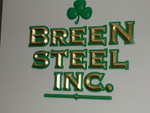 Breen Steel Cutout Gold leafed logo & Prism Letters