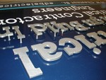 Electrical Design Cutout Aluminum Powder coated clear Letters